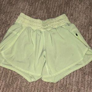Lulu Lemon Athletic Shorts - Neon Yellow/Green